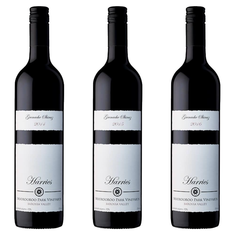 2014 2015 and 2016 Harries Grenache Shiraz Barossa Valley organic boutique wine